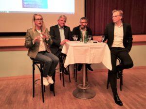 Dr. Margarete Schramböck, Arno Abler MBA, Stefan Jöchl, Dr. Andreas Bierwirth (v.l.)